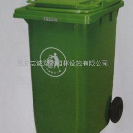 陕西挂车塑料桶 环卫车钩臂式垃圾箱销售西安志诚多分类垃圾桶