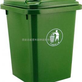 榆林带轮塑料垃圾桶 延安小区垃圾桶 宝鸡240升塑料垃圾桶厂家