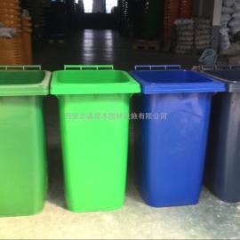 西安小区塑料垃圾桶 移动式塑料垃圾桶 可推式塑料垃圾桶