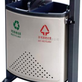 汉中景区分类垃圾桶_汉中广场环保果皮箱_汉中公园环卫垃圾箱