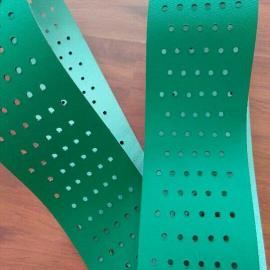 冲孔pvc输送带,打孔皮带,打孔漏水透风pvc传送带