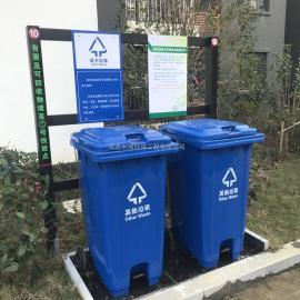 常州市政垃圾分类栏安装-常州市政环保分类垃圾栏价格