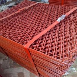 海宁喷漆钢板冲孔网(菱形孔)――平台防护专用钢笆片预售价