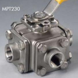 美国博雷MPTMPC230系列球阀 进口博雷不锈钢四通螺纹球阀