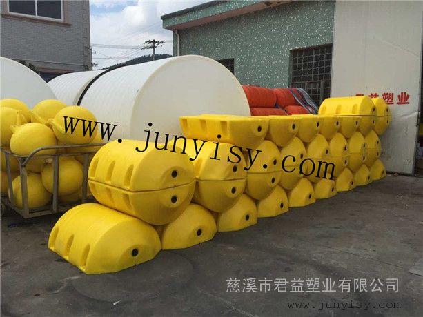 直径800长1100孔径3公分夹钢丝绳拦污浮漂 排污塑料浮漂