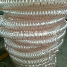 PU镀铜钢丝伸缩软管粉尘抽吸软管耐磨耐低温除尘管