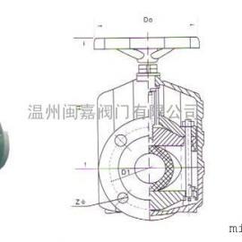 GJ41X-10 铸铁管夹阀 GJ41X-6L 铝合金管夹阀 胶管阀