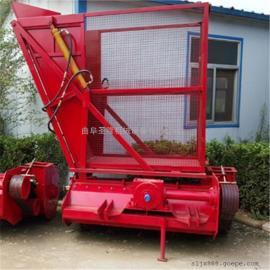 苞米杆青贮收获回收机 带料仓二次粉碎回收机