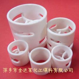 PTFE聚四氟乙烯鲍尔环填料 PTFE耐高温鲍尔环