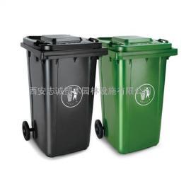 平凉塑料垃圾桶厂家 分类果皮箱 甘肃小区垃圾桶找西安志诚塑木
