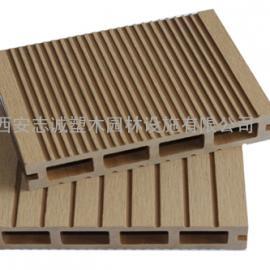 北京pe塑木地板厂家 北京pvc木塑地板栈道价格行情西安志诚塑木