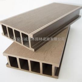 陕西木塑地板|陕西塑木地板|陕西户外景观木栈道安装施工厂家