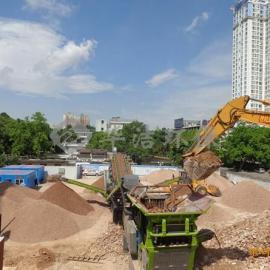 建筑垃圾移动破碎站助力传统建筑业转型升级