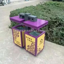 西安公园环保垃圾桶_西安景区垃圾桶_分类果皮箱找西安志诚塑木