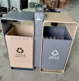 宝鸡垃圾桶_宝鸡分类果皮箱_环保不锈钢垃圾桶-西安志诚厂家
