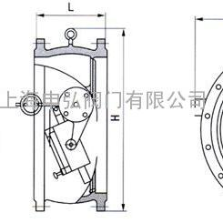 HH47X型蝶式缓冲不锈钢止回阀