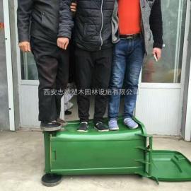西安挂车塑料垃圾桶厂家销售240升360升660升多分类果皮箱