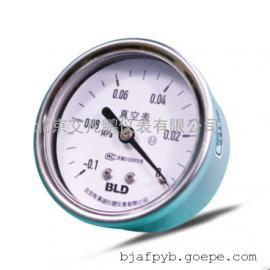 布莱迪不锈钢轴向压力表真空负压表不锈钢抗震油压表水表
