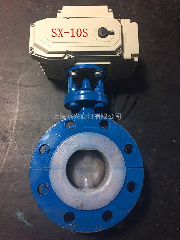 d941f46-16c法兰式电动衬氟蝶阀图片