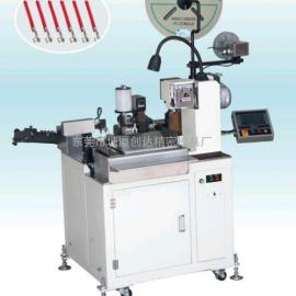 全自动单线粘锡端子机 14#号线粘锡打端子 单线产能3000条粘锡机
