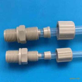 进口PP 塑料卡套接头CEMS用接头直通PPC0604-G1/8