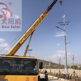 甘肃兰州太阳能路灯厂家 12米风光互补路