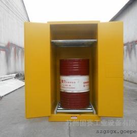 110加仑油桶柜|双开门设计|配可调节层板|黄色|GS8110|价优