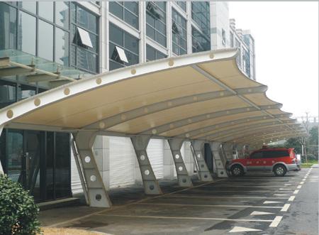 膜结构停车棚厂家 汽车停车棚图片 停车棚价格 自行车