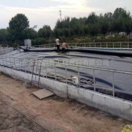 HDPE防渗膜建设沼气池的优点、黑膜沼气池防渗、氧化塘防渗、