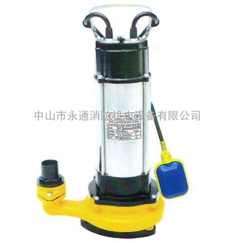 1.5KW无堵塞排污泵 意捷V1500F直立式单相自动3寸污水潜水泵