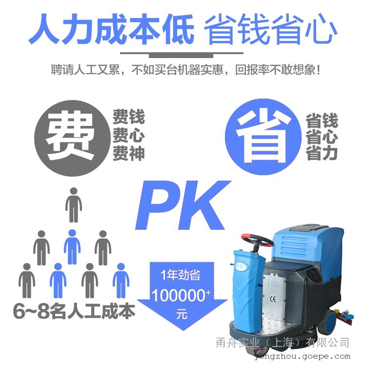 依晨驾驶式洗地机YZ-JS1000|超市商场洗地面洗地机