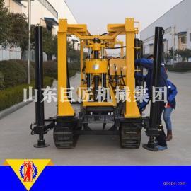 华巨供应XYD-130履带式液压水井钻机百米岩芯钻机