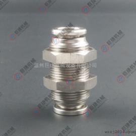 不锈钢快插穿板板接头304全牙快插直通接头 4-16mm尼龙管快插接头