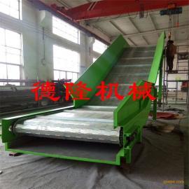 输送机重型链板爬坡机大型自动化输送设备传送运输带不锈钢链板