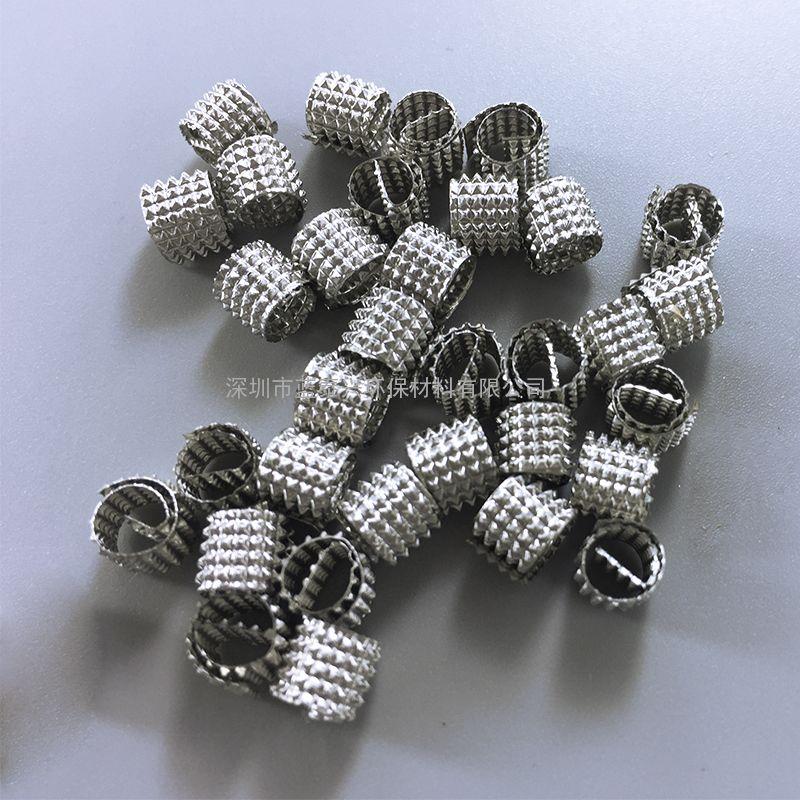 304不锈钢压延孔环填料实验室精馏塔填料高纯度产品分离卡农填料