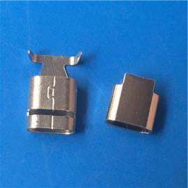 苹果屏蔽罩/C48不锈钢USB转接头屏蔽壳 外壳 直线夹/扁线夹