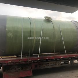 玻璃钢一体化污水预制泵站 玻璃钢一体化污水提升泵站