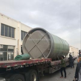 市政污水处理设备无人值守GPS远程操作玻璃钢一体化污水提升泵站