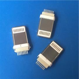 苹果加长公头一体/分体加长8.8mm夹板iPhone插头ph=0.6mm白胶