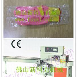 乳胶手套包装机,枕式塑料袋子装手套包装机械