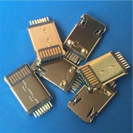 二合一苹果5公头+安卓iphone+MICRO连体夹板0.6超薄黑胶平安公头