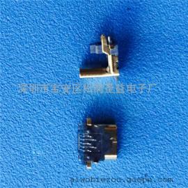 加高MICRO 5P/7P公头 90度垫高4.17mm插板式 反向/正向 镀金