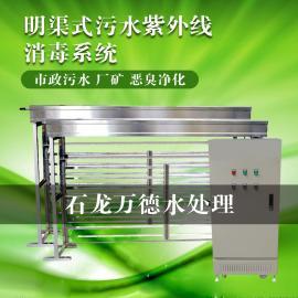 污水处理厂明渠式紫外线消毒模块 过流式杀菌系统