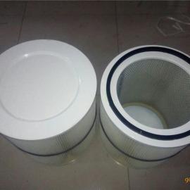 焊接烟尘除尘滤筒 焊接烟尘除尘滤芯 焊烟机高效覆膜滤筒