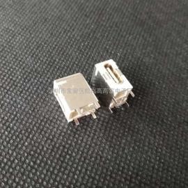 田米笔记本TYPE-C母座侧插/侧立式四脚插板大电流3.1USB