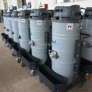220V上下桶工业吸尘器吸粉尘木屑颗粒用大型吸尘设备厂家