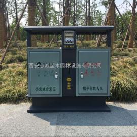 庆阳分类垃圾桶_西峰环保垃圾箱_不锈钢果皮箱厂家-西安志诚塑木