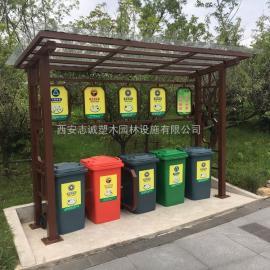 兰州240升塑料垃圾桶_环卫车挂车桶_环保分类果皮箱供应厂家西安