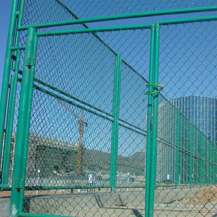 球场浸塑铁丝网-淮南学校施工球场护栏 浸塑勾花护栏一诺厂家