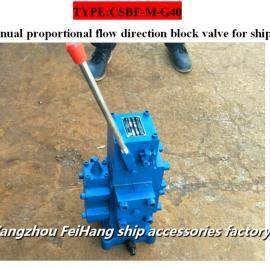高品质CSBF-M-G40手动比例流量方向复合阀